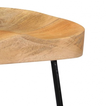 Stołki barowe Gavin, 2 szt., 46x38x52 cm, lite drewno mango