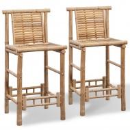 Stołki barowe z bambusa, 2 szt.