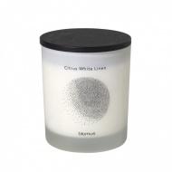 Świeca zapachowa Citrus White Linen 10,5x9cm Blomus FLAVO biała