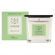 Świeca zapachowa green tea&lime 8x8cm Lacrosse zielona