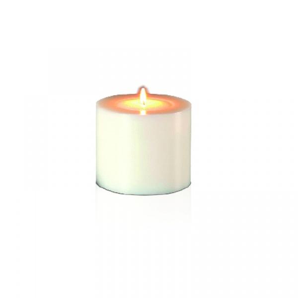 Świecznik 7x5 cm Miloo Home Lux biały LUX-5090