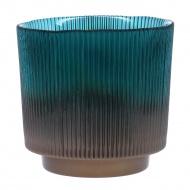 Świecznik Carmen Teal 14 cm