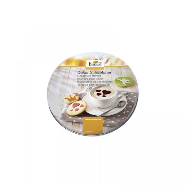 Szablony do dekoracji ciasteczek i kawy Forever 6 szt. Birkmann 450 226