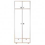 Szafa 2-drzwiowa 215x80 Durbas Style Kółko Krzyżyk biała
