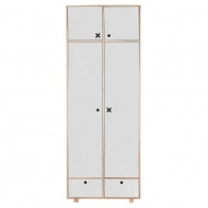 Szafa 2-drzwiowa 215x80 Durbas Style Kółko Krzyżyk szara
