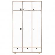 Szafa 3-drzwiowa 215x120 Durbas Style Kółko Krzyżyk biała