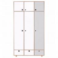 Szafa 3-drzwiowa 215x120 Durbas Style Kółko Krzyżyk szaro-biała
