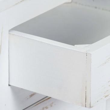 Szafka nocna, biała, 40x30x50 cm, lite drewno mango