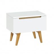 Szafka nocna z szufladą 70x40x45cm King Home Pure biała/dąb