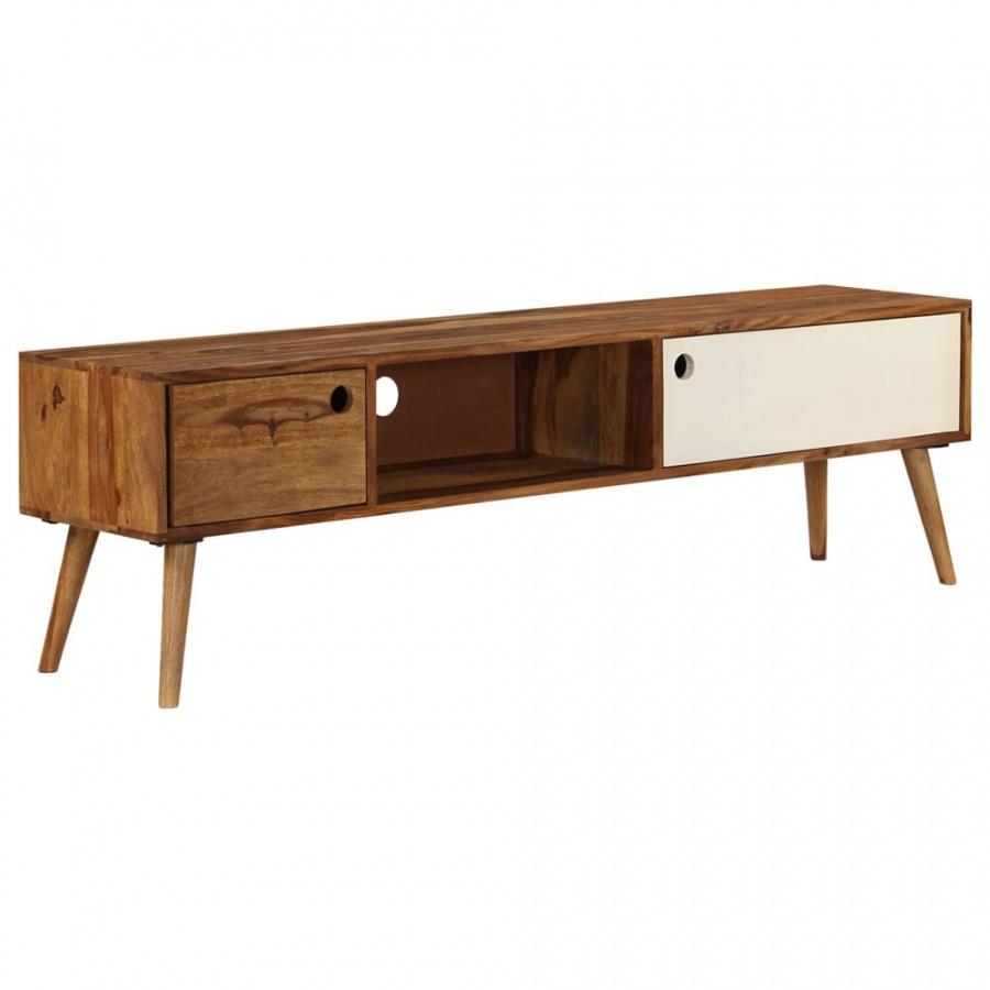Szafka pod telewizor, 140x50x35 cm, lite drewno sheesham kod: V-246224 + Z NAMI NIE RYZYKUJESZ