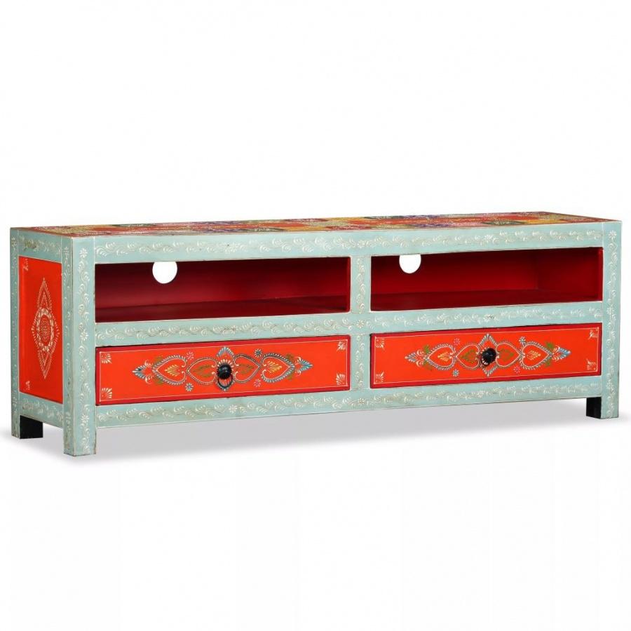 Szafka pod telewizor, drewno mango, ręcznie malowana kod: V-244595 + Z NAMI NIE RYZYKUJESZ