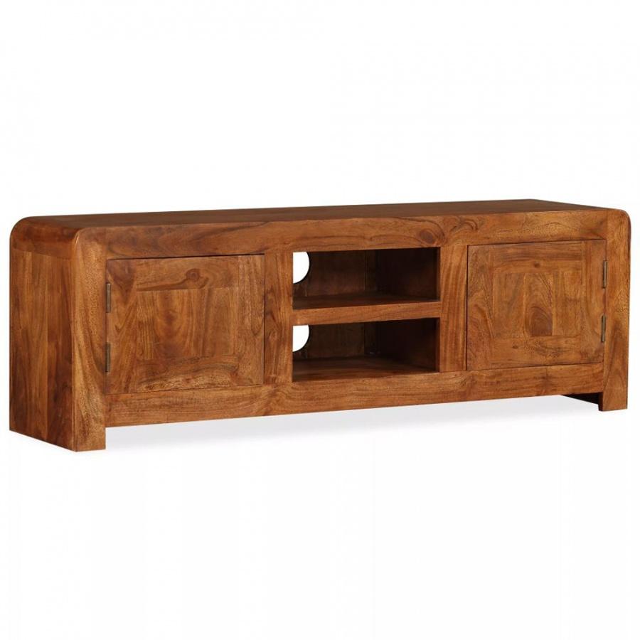 Szafka pod telewizor, drewno o wyglądzie sheesham, 120x30x40 cm kod: V-244679 + Z NAMI NIE RYZYKUJESZ