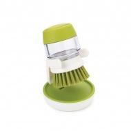 Szczotka do mycia naczyń z pompką Joseph Joseph zielona