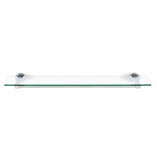 Szklana półka łazienkowa Blomus Areo stal polerowana B68933