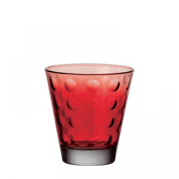 Szklanka 0,22 L Leonardo Optic czerwona 049410