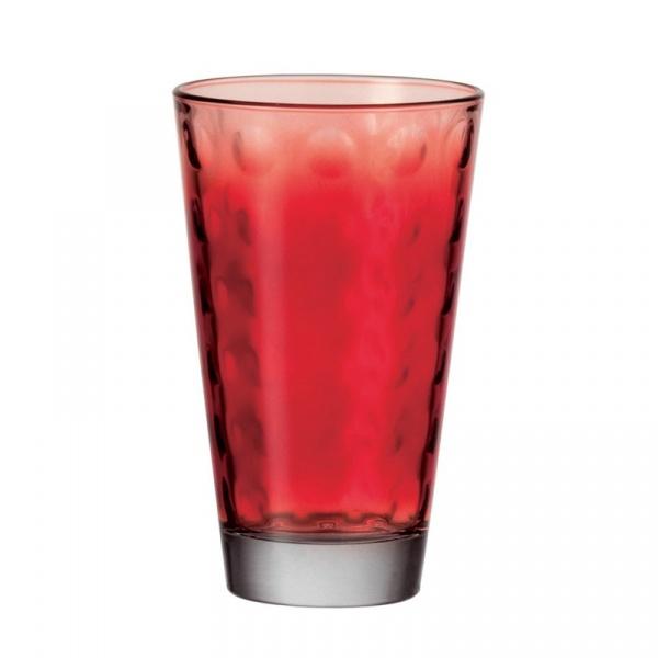 Szklanka 0,3 L Leonardo Optic czerwona 049409