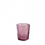 Szklanka 300 ml Cilio Crystal Line różowa