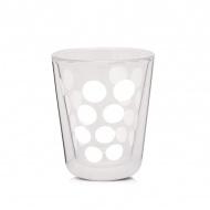 Szklanka termiczna 200 ml Zak! Designs Dot biała