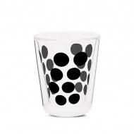 Szklanka termiczna 200 ml Zak! Designs Dot czarna