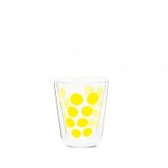 Szklanka termiczna 200 ml Zak! Designs Dot żółta
