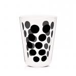 Szklanka termiczna 350 ml Zak! Designs Dot czarna
