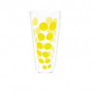 Szklanka termiczna wysoka 350 ml Zak! Design Dot żółta