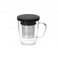Szklanka z zaparzaczem 350 ml PO: Ming czarna