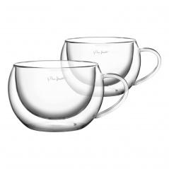 Szklanki termiczne do cappuccino 2 szt 270ml Lamart Vaso