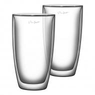 Szklanki termiczne do kawy 2szt. 230ml Lamart Vaso przezroczyste