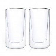 Szklanki termiczne do latte 2szt 0,32L Blomus Nero