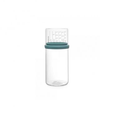 Szklany pojemnik kuchenny z miarką 1l Brabantia miętowy BR 29-02-44
