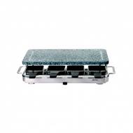 Szwajcarski grill Raclette 8 INOX z kamienną płytą firmy SPRING