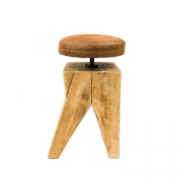 Taboret drewniany Gie El FST0130