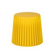 Taboret śr. 47cm King Home Cap oliwowy/żółty