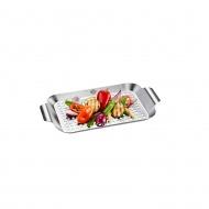 Taca do grilowania warzyw 33x18,7x2,5cm Gefu srebrna