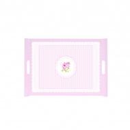 Taca z uchwytami Nuova R2S La Belle Maison różowa