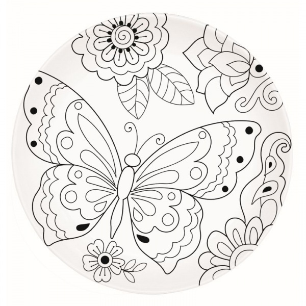 Talerz deserowy 19 cm Nuova R2S Art & Colour motyl 199 BUTY