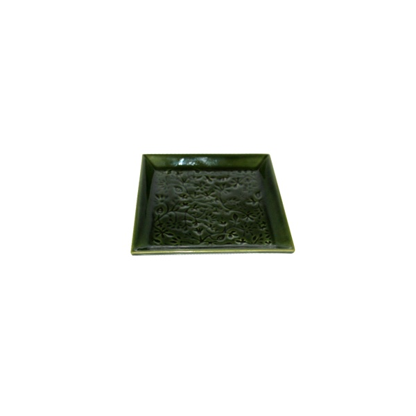 Talerz mały M-14x14 cm Two People Green Sign T.M-G