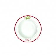 Talerz na zupę 21,5 cm Nuova R2S Bistrot Olives oliwki