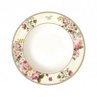Talerz na zupę 22,5cm Nuova R2S Blooming Opulence biały