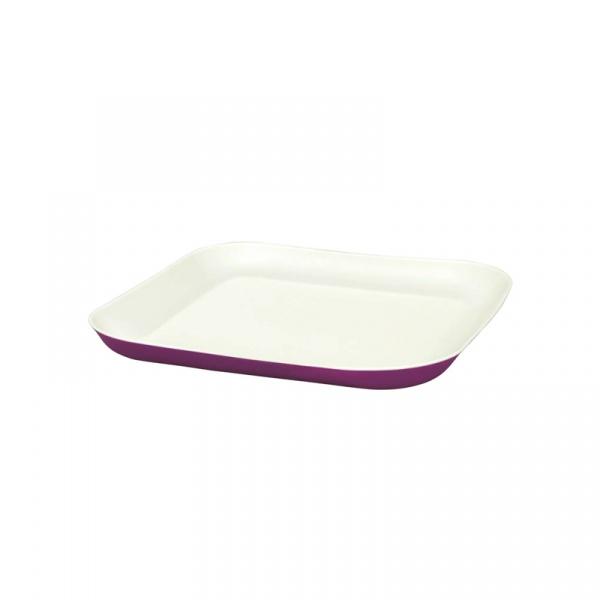 Talerz obiadowy 23,5 x 23,5 cm Aladdin fioletowy AL-10-01955-003