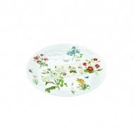 Talerz szklany 32cm Nuova R2S Romantic polne kwiaty