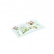 Talerz szklany 9,5x15,5cm Nuova R2S Romantic polne kwiaty