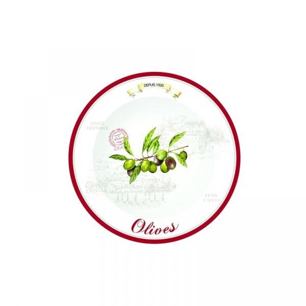 Talerze deserowe 4 szt. Nuova R2S Bistrot Olives 819 OLIV