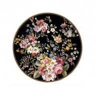 Talerzyk deserowy 19cm Nuova R2S Blooming Opulence czarny