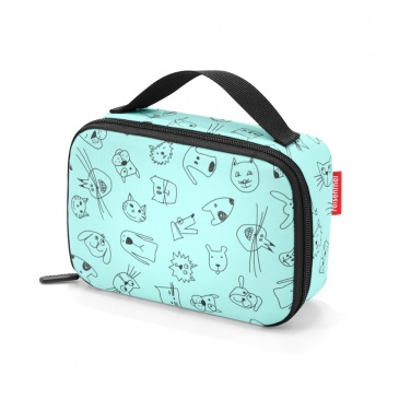 Torba na lunch thermocase kids Reisenthel cats and dogs mint