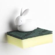 Uchwyt na gąbkę królik Bunny biały 10206-WH