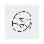 UMBRA - Gazetownik metalowy, czarny, HOOP MAGAZINE