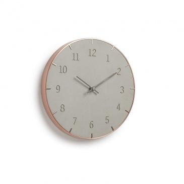 UMBRA - Zegar ścienny, szaro miedziany, PIATTO