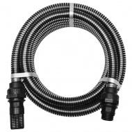 Wąż ssący ze złączkami, 10 m, 22 mm, czarny
